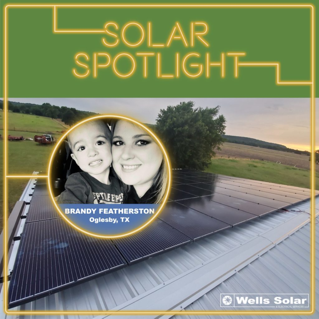 Check out how the Featherstons saved with Wells Solar